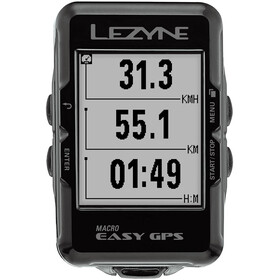 Lezyne Micro Easy Cykelcomputer, black